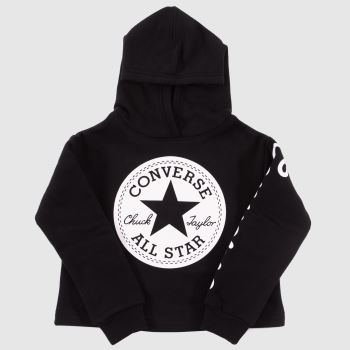 Converse Black & White Kids Chuck Patch Hoodie Girls