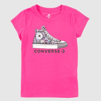 Converse Pink Kids S/s Ct Graphic Girls