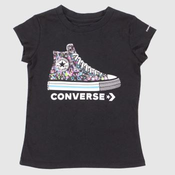 Converse Black Kids S/s Ct Graphic Girls#