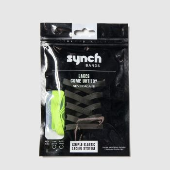 Synch Bands Green S/m Elastic Lace Shoe Accessories