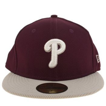 ACCESSORIES NEW ERA BURGUNDY PHILLIES DIAMOND ERA 59FIFTY