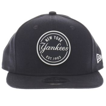 New Era Navy 9Fifty Ny Rubber Emblem Caps and Hats