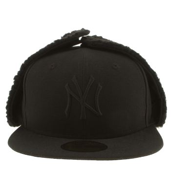 New Era Black DOG EAR NY YANKEES 59FIFTY Caps and Hats