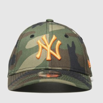 New Era Dark Green Kids Camo Ny Yankees 9forty Caps and Hats