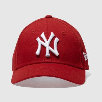 d9a78dea98bf0 New Era Red Kids Ny Yankees 9Forty Caps and Hats