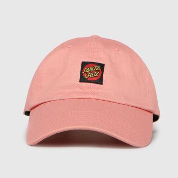 Santa Cruz Pink Classic Dot Label Caps and Hats