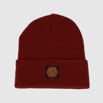 Santa Cruz Red Classic Label Beani Caps and Hats