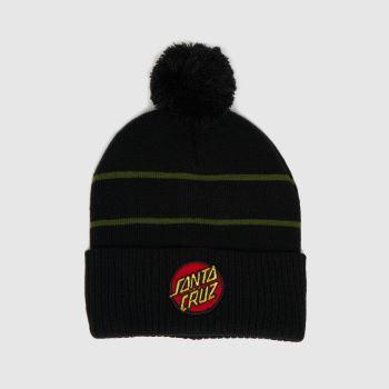 Santa Cruz Black Dot Stripe Beanie Caps and Hats