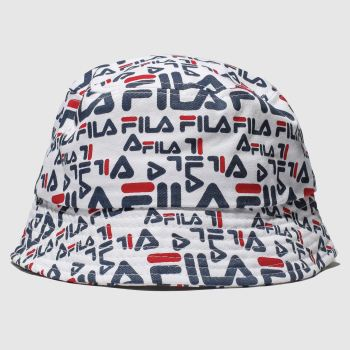 Fila White & Navy Taylor Bucket Adults Hats