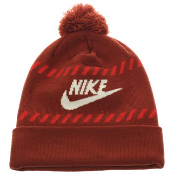 Nike Red Futura Pom Beanie Caps and Hats
