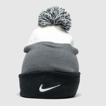 Nike Black & White KIDS Y NK BEANIE SSNL POM Caps and Hats