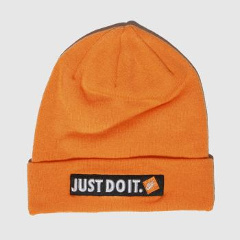 Nike Orange Beanie Jdi Caps and Hats
