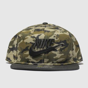 Nike Black & Green KIDS TRUE CAMO 2 Caps and Hats