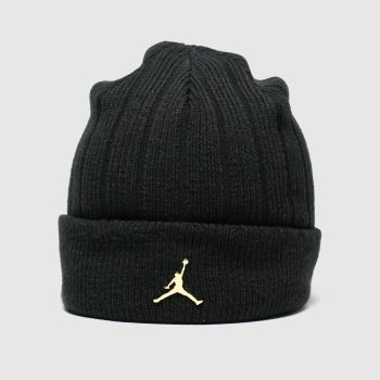 Nike Jordan Black & Gold KIDS BEANIE CUFFED INGOT Caps and Hats