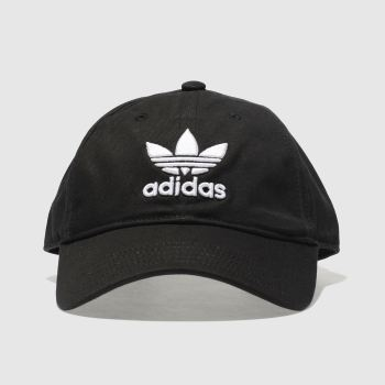a361d088d955a black   white adidas trefoil Caps and Hats