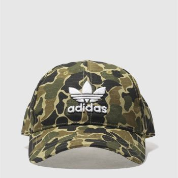 Adidas Khaki CAMO BASEBALL CAP Caps and Hats
