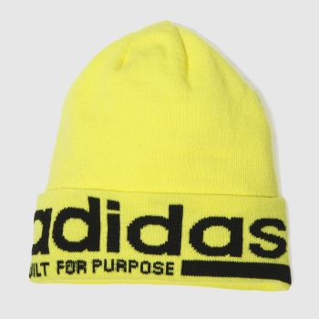 Adidas Yellow Beanie Caps and Hats