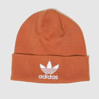 Adidas Orange Trefoil Beanie Caps and Hats