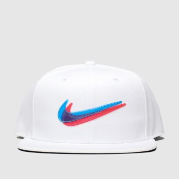 Nike White & Blue Kids Y Nk Pro Cap Ssnl 3D Caps and Hats