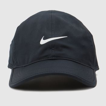 Nike Black & White Featherlight Cap Caps and Hats