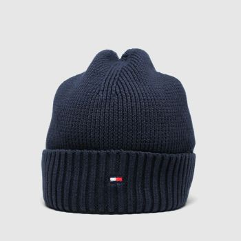 Tommy Hilfiger Navy KIDS FLAG KNIT BEANIE Caps and Hats