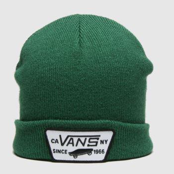 Vans Green Milford Beanie Boys Kids Hats