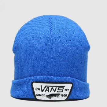 Vans Blue Milford Beanie Boys Caps and Hats#