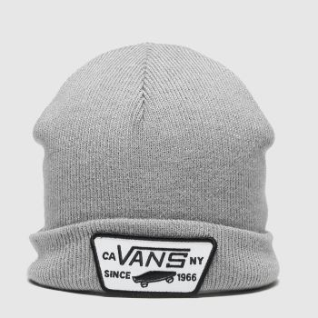 Vans Grey Milford Beanie Boys Caps and Hats#