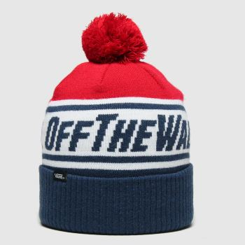 Vans Navy & White Off The Wall Pom Boy Caps and Hats