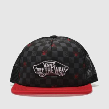 Vans Black Marvel Spider-Man Trucker Caps and Hats