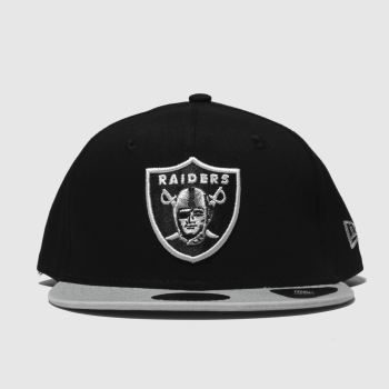 New Era Schwarz-Grau Kids 9Fifty Oakland Raiders Caps und Hüte