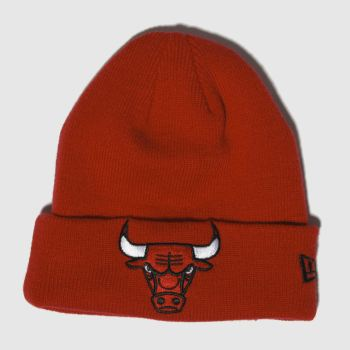 New Era Red Kids Cuff Knit Chicagobulls Caps and Hats