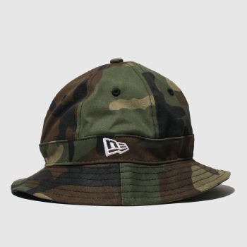 New Era Khaki Kids Explorer Bucket Caps and Hats