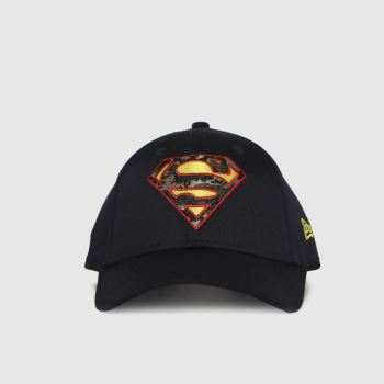 New Era Navy Kids Superman 9forty Caps and Hats