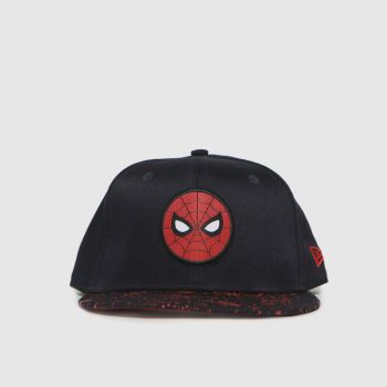 New Era Navy Kids Spiderman 9fifty Caps and Hats