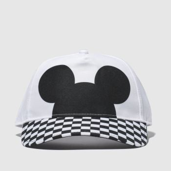 Vans White & Black Checkerboard Mickey Caps and Hats