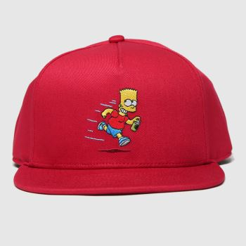 Vans Red The Simpsons Snapback Adults Hats