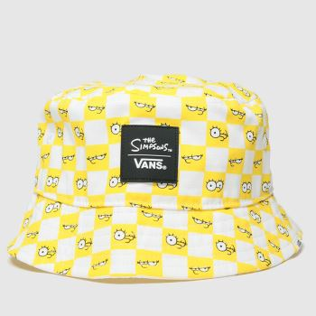 Vans White & Yellow The Simpsons Bucket Hat Adults Hats