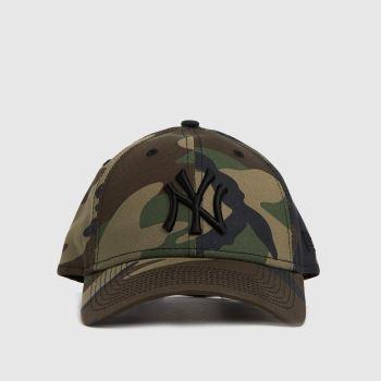 New Era Khaki Ny Yankees 9forty League Cap Caps and Hats