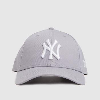 New Era Light Grey Ny Yankees 9forty League Caps and Hats