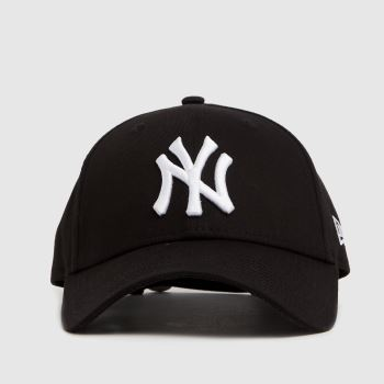 New Era Black & White Ny Yankees 9forty League Caps and Hats