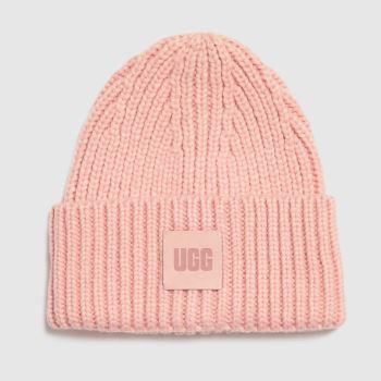 UGG Pink Chunky Rib Beanie Caps and Hats