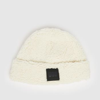 UGG Weiß Sherpa Beanie Caps und Hüte