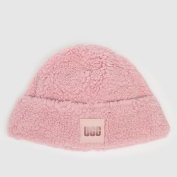 UGG Pink Sherpa Beanie Caps and Hats