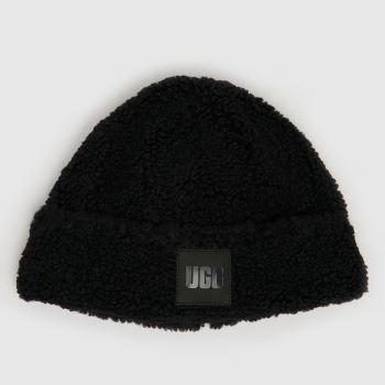 UGG Black Sherpa Beanie Caps and Hats