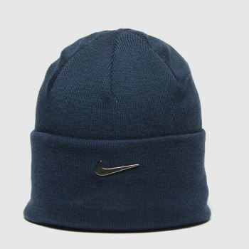Nike Navy Nsw Beanie Cuffed Swoosh Caps and Hats#