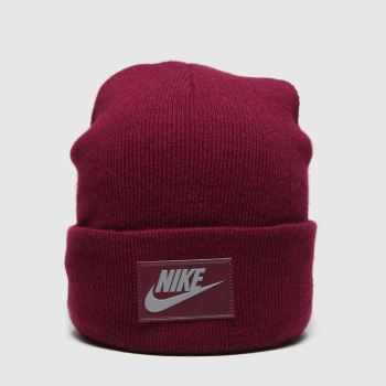 Nike Burgundy Cuffed Beanie Fut Flash Caps and Hats