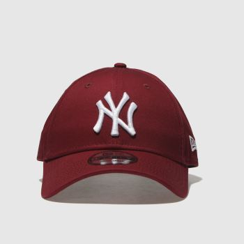New Era Burgundy Ne 9Forty New York Yankees Caps and Hats