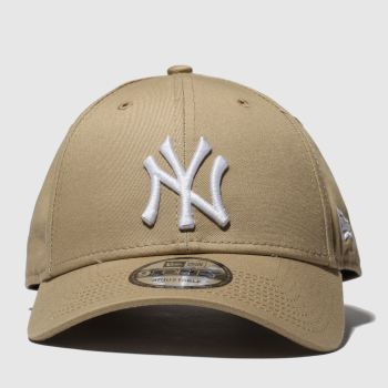 New Era Tan 9Forty New York Yankees Adults Hats