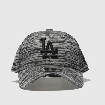 New Era Grey & Black 9FORTY ENGINEERED FIT LA Caps and Hats